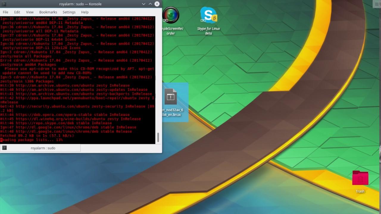 NOD32 AntiVirus Install Kubuntu