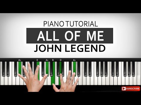 Belajar Piano ALL OF ME - John Legend | PART 1 | Belajar Piano Keyboard