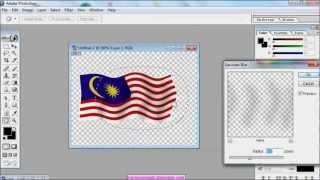 tutorial kaedah membuat gambar kibaran bendera malaysia 3D style