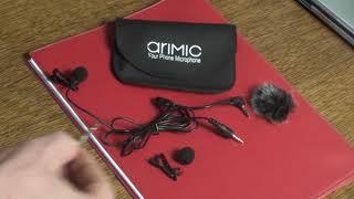 Недорогой микрофон-петличка Arimic Lavalier стоит ли покупать