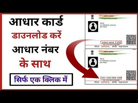 Download Aadhar Card With Aadhar Number | How to Download Aadhaar Card