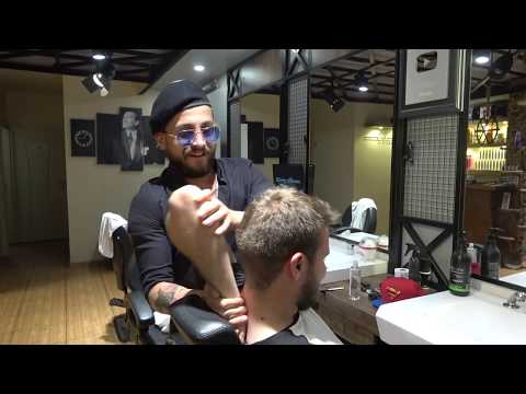 ASMR Turkish Barber Face,Head And Body Massage With Wax 290