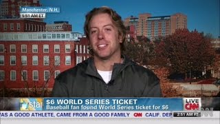 The Indians are headed to the World Series! + TBT to my interview on national TV about my $6 ticket