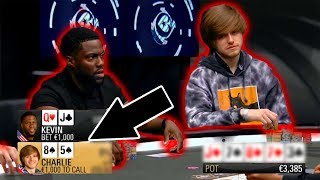 Kevin Hart Tries to OUTPLAY Me. (Poker Hand Analysis)