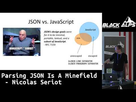 BlackAlps17: Parsing JSON is a minefield by Nicolas Seriot