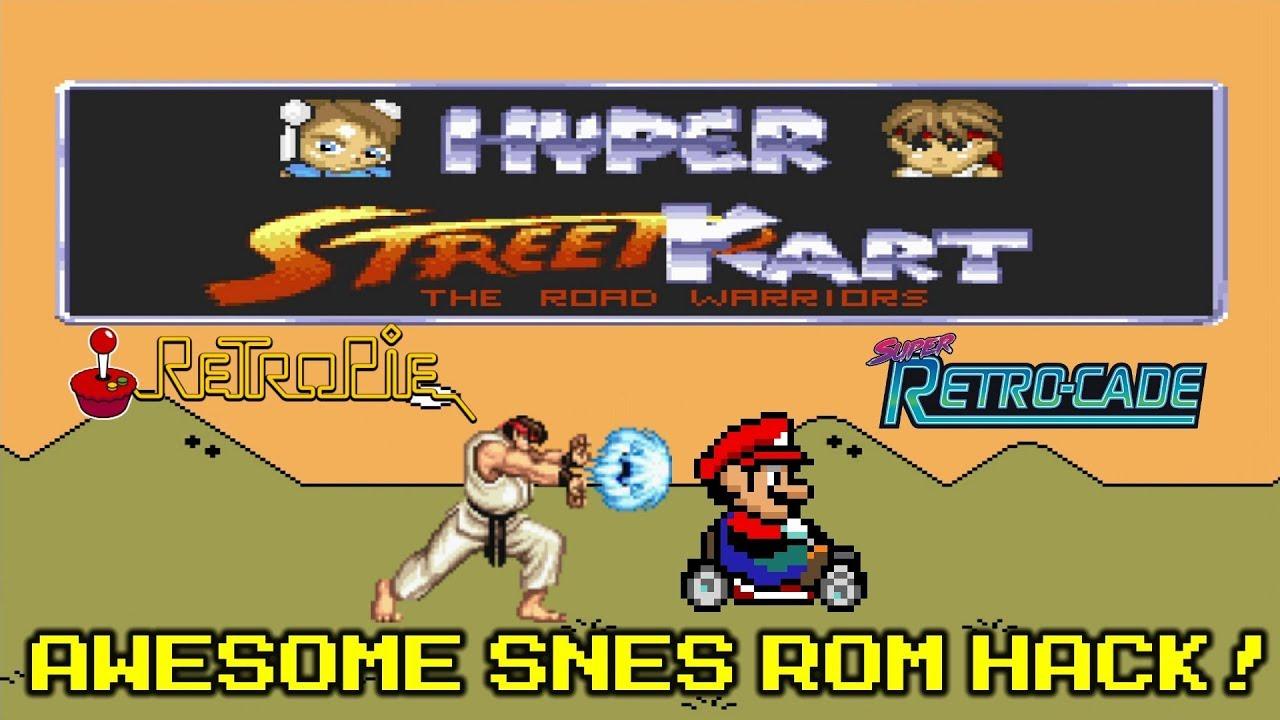 Hyper Street Kart - Awesome Mario Kart Hack SNES - RetroPie Retro