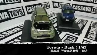 Toyota Rush and Suzuki-Karimun - Wagon R 1993 Diecast