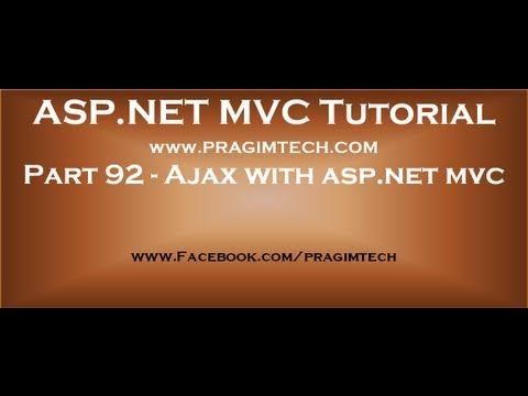 Part 92   Ajax with asp net mvc
