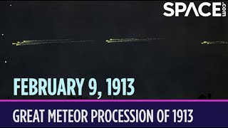 OTD in Space – February 9: Great Meteor Procession of 1913
