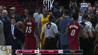 Cavaliers and heat get into a fight after the game