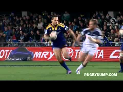 Shaun Treeby try from Mike Delaney inside ball