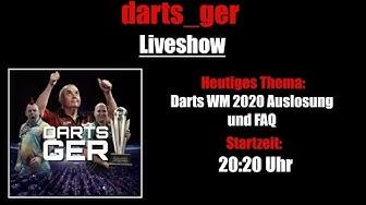 PDC World Championship 2020 Auslosung - Darts WM Auslosung - FAQ - Darts_Ger Liveshow