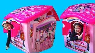 Masal and Öykü build New Disney Minnie Mouse Playhouse - Fun Video