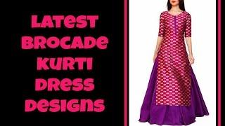 Latest Brocade Kurti Designs