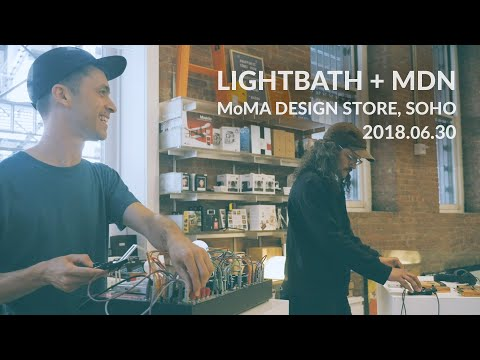 Lightbath + MDN @ MoMA Design Store, Soho | Teenage Engineering OP-1 + PO-35 Speak w/ Eurorack