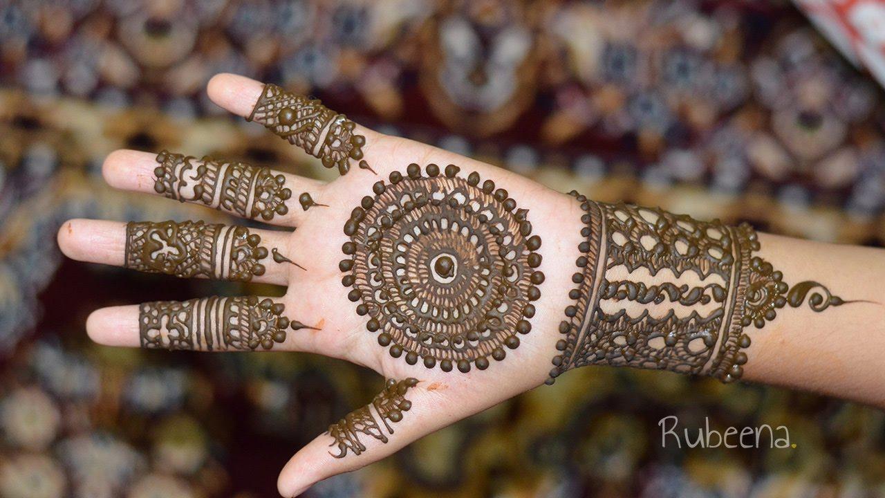 Full Hand Mandala Mehndi Design Tutorial Front Side Diy Youtube