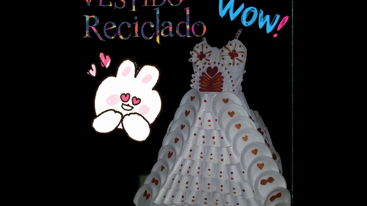 Vestido Con Materiales Reciclados Youtube