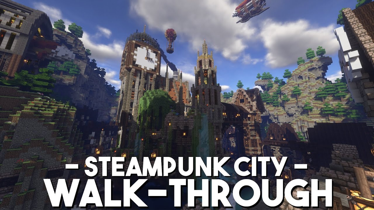 Minecraft Oriental Steampunk Map Free To Use Download