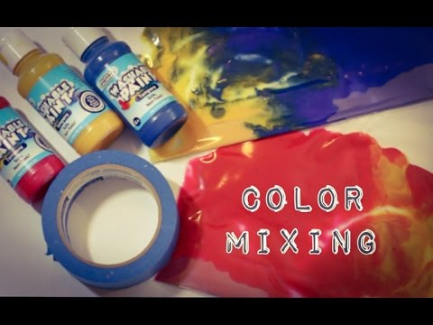 No Mess Toddler and Baby Painting - Color Mixing Activity - YouTube
