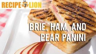 Brie, Ham, And Pear Panini