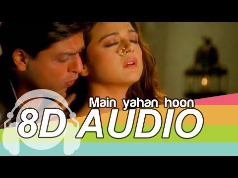 Main Yahaan Hoon | 8D Audio Song | Veer-Zaara | (HQ) 🎧