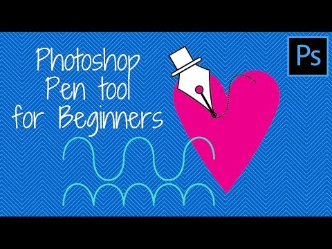How to use the Pen tool to draw paths in Photoshop - a Photoshop for Beginners tutorial
