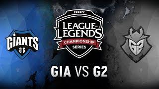 GIA vs. G2  - Week 2 Day 1 | EU LCS Spring Split |  Giants Gaming vs. G2 Esports (2018)