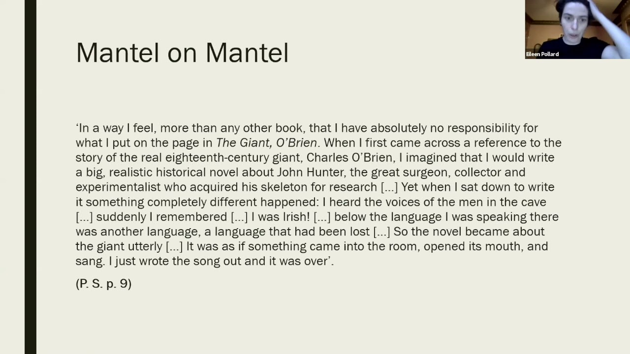 Download Overflow of Meaning: Reading and Re-reading Hilary Mantel - Session 2: Writing the Marginal