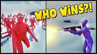 tabs m16 vs peasant army super boxer vs peasant army totally accurate battle simulator