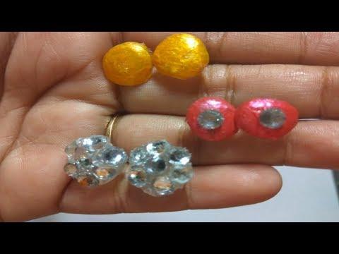 DIY Hot Glue Stud Earrings| Ear Buttons| By Miss. Artofy