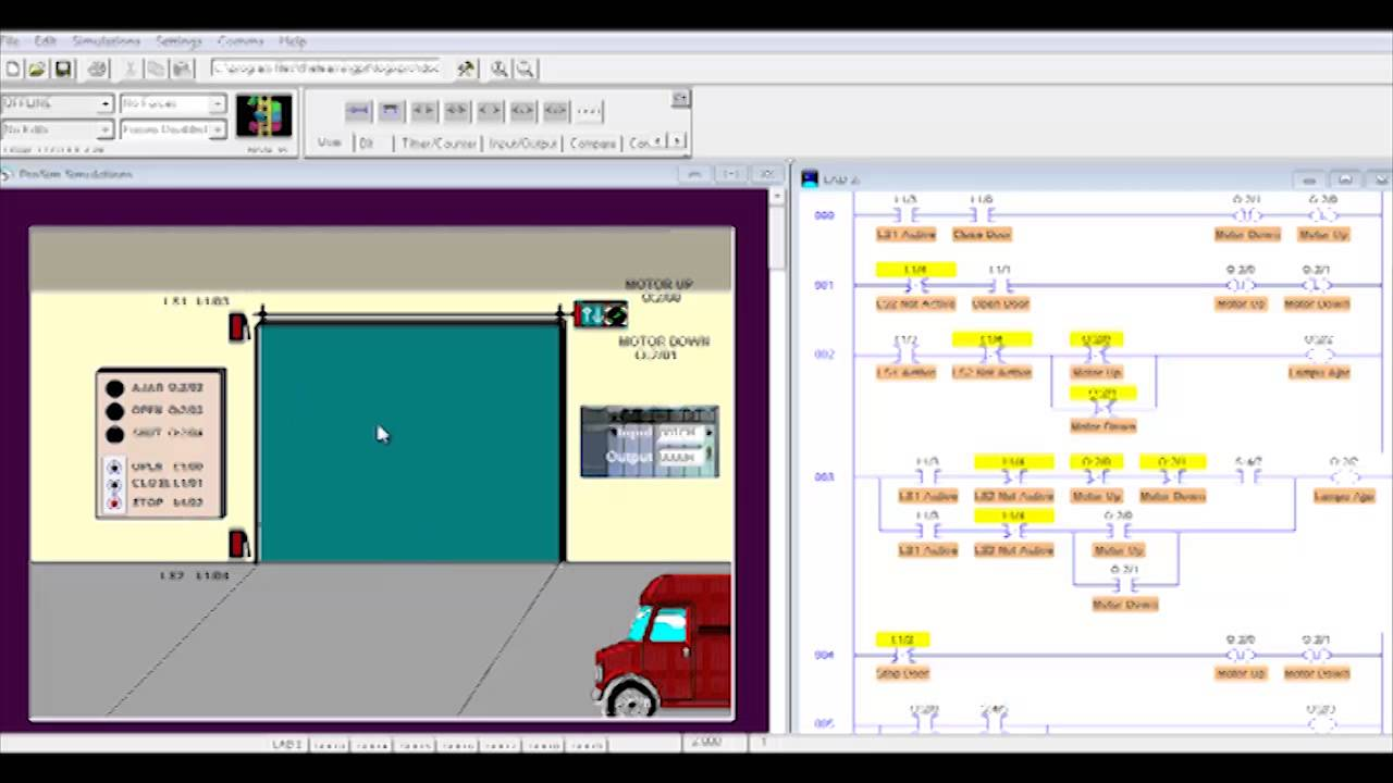 Plc Simulator Door Simulation Exercise 3 Youtube Ladder