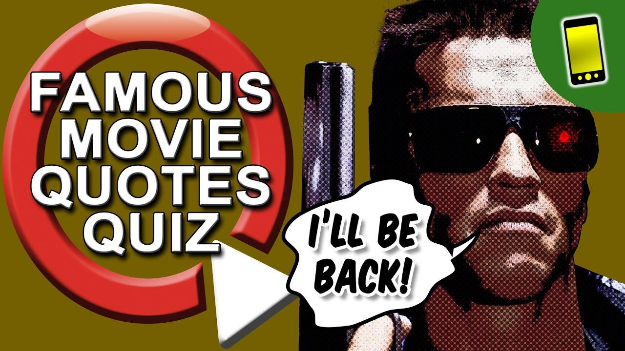 Movie Quiz Famous Movie Quotes Youtube