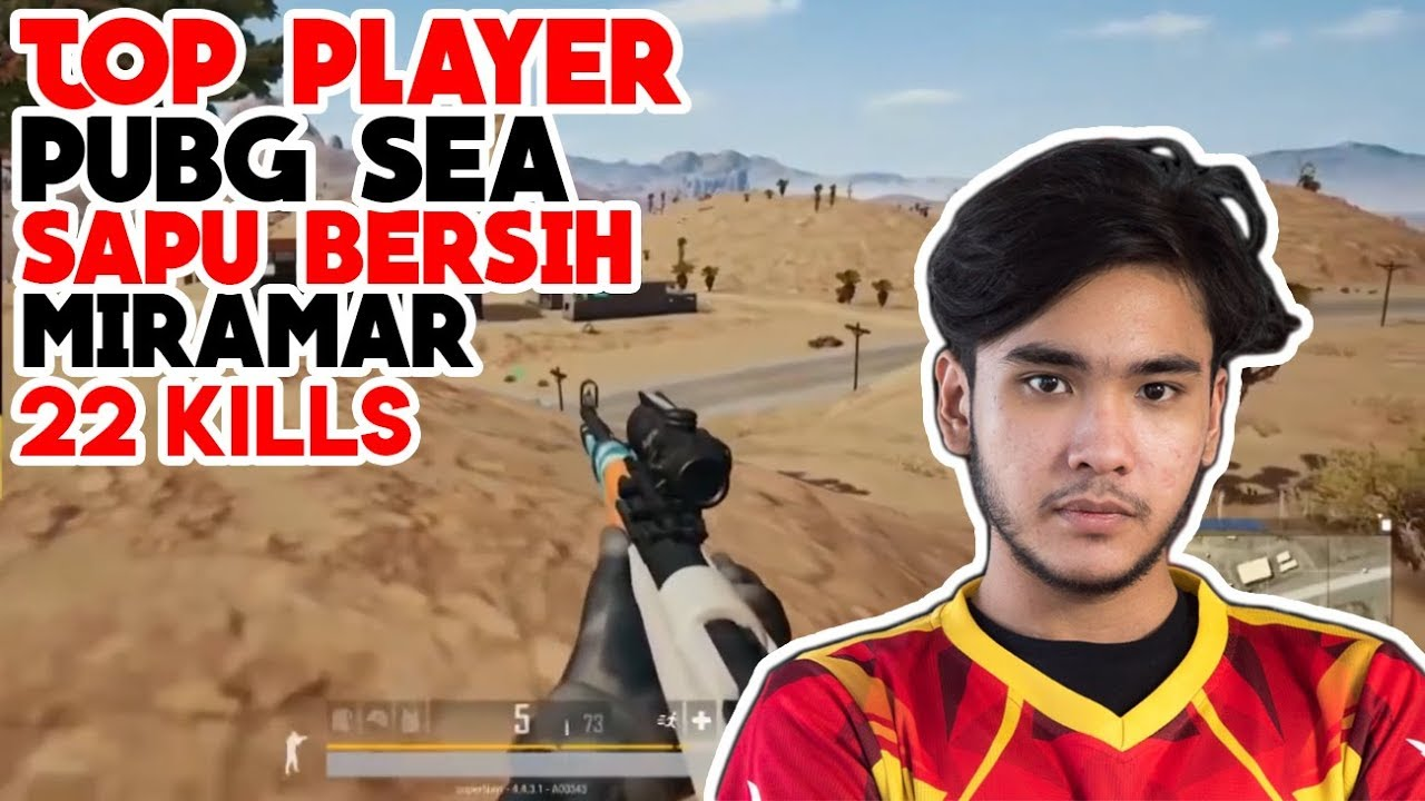 TOP PLAYER PUBG SEA SUPERNAYR SOLO MIRAMAR 22 KILL PUBG INDONESIA