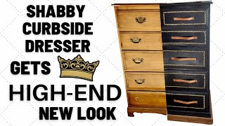 Shabby Curbside Dresser Gets a High-End New Look With A Fun Furniture Makeover