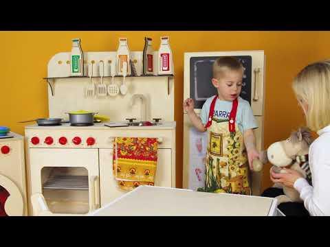 Детская деревянная кухня АзбукаДекор Kitchen for children Игры для детей