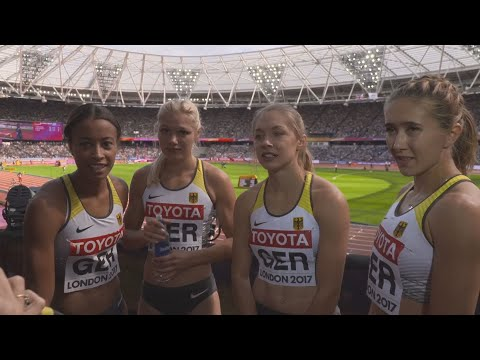 WCH 2017 London –Team Germany 4X100 Metres relay Heat 2