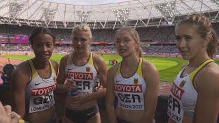 WCH 2017 London –Team Germany 4X100 Metres relay Heat 2