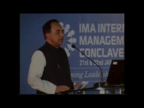 IMA International Management Conclave (Jan. 2011) - Dr. Subramanian Swamy (Indian Politician)