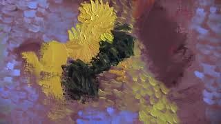Видео урок Игоря Сахарова  Букет цветов Ван Гог    Живопись маслом .Bouquet Of Flowers Van Gogh