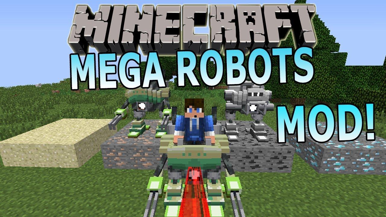 Minecraft Mega Robots Mod Showcase Laser Beams Build