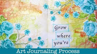 Beginners Art journal process with lots of Tips & Techniques