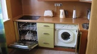 Встраиваемая кухня. Ошибки. Установка мойки и плиты.
