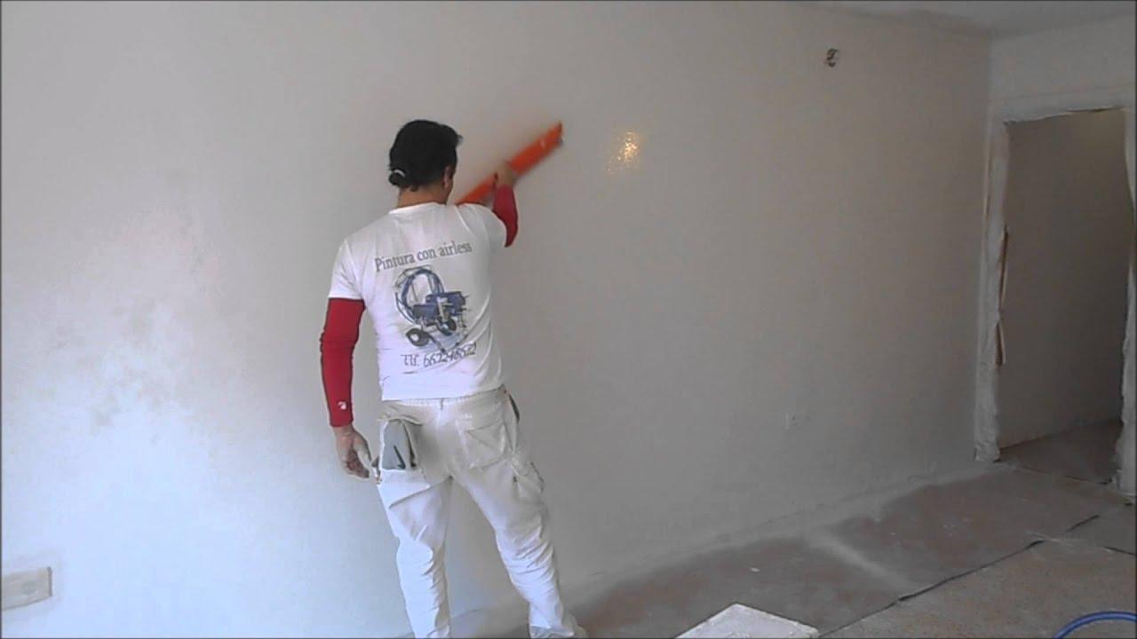 eliminar quitar gotele alisar paredes youtube