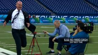 Rich Eisen's 40 Yard Dash & SimulCam Against John Ross, Evan Engram and Others NFL 3