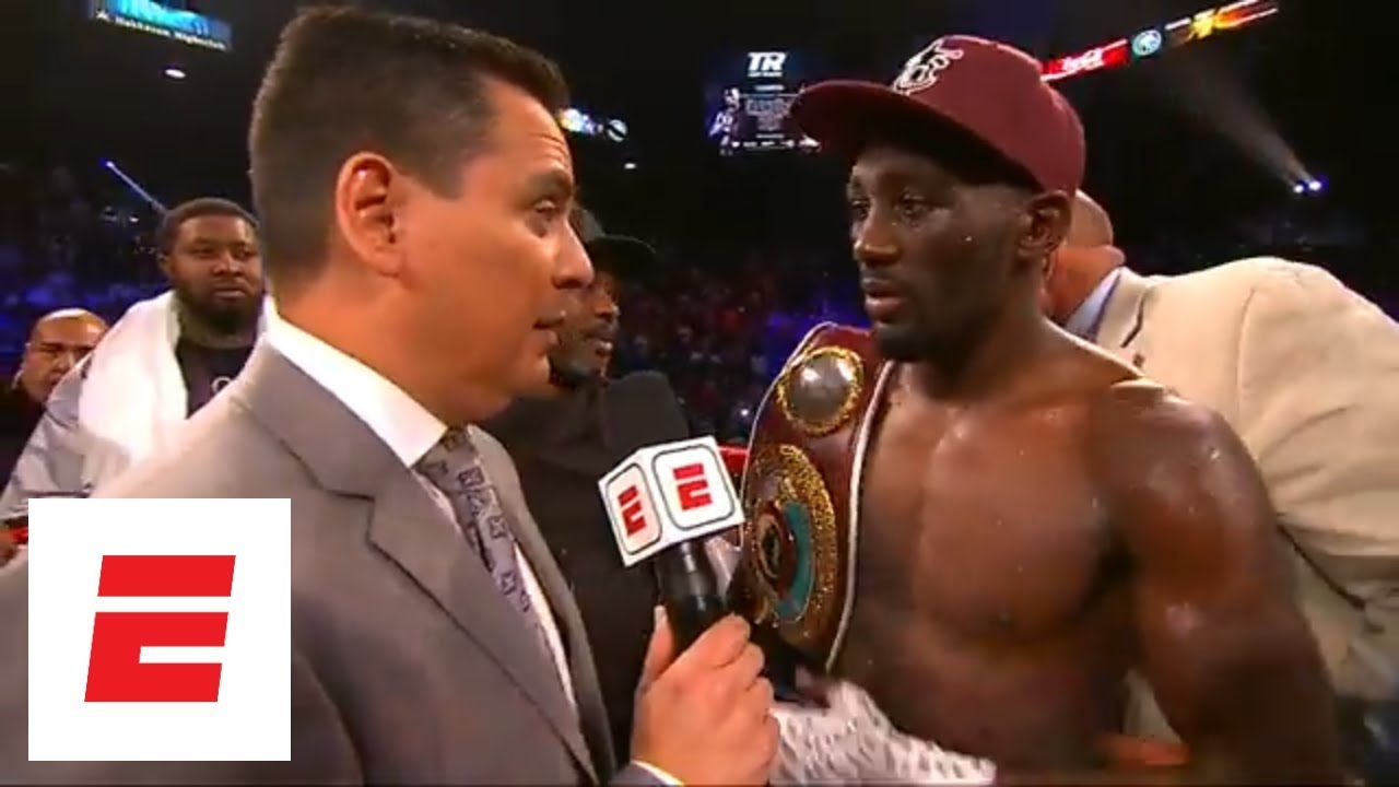 Terence Crawford defeats Jeff Horn by 9th-round TKO to win the WBO welterweight title |  ESPN