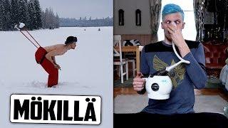 Käyn hiihtämässä ja testaan laulajien höyryäänenavaajaa :D
