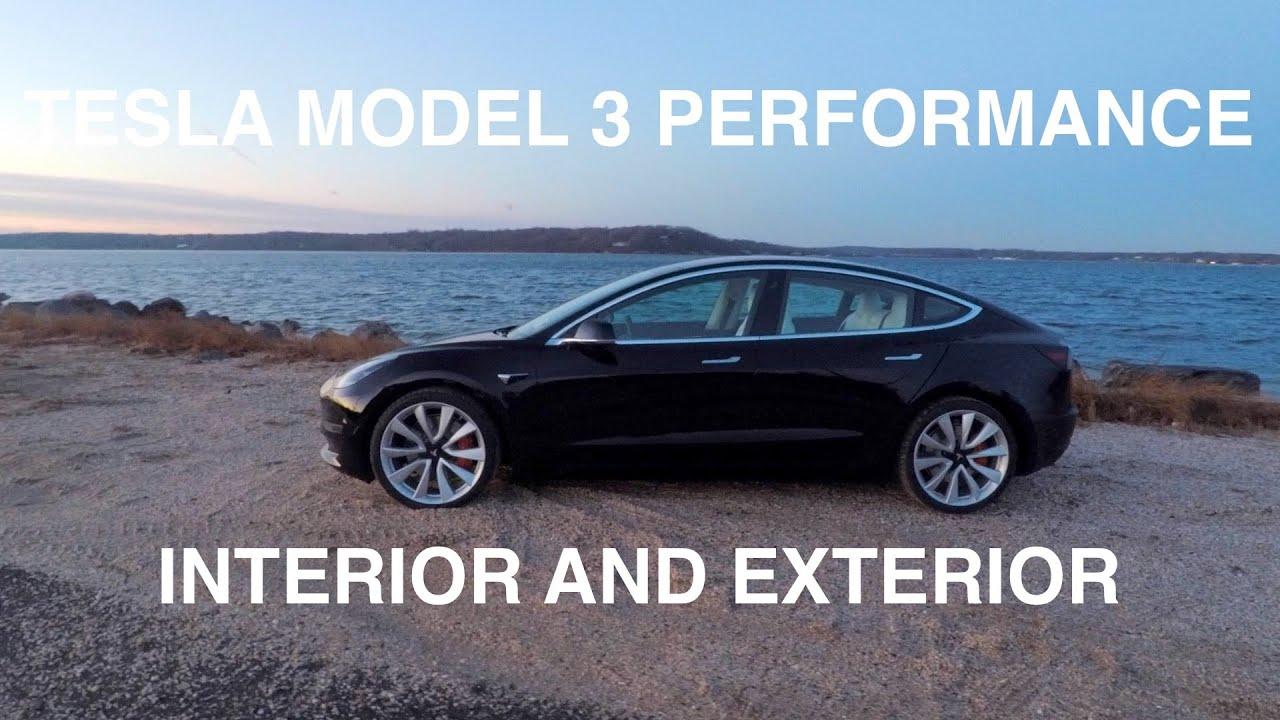 Tesla Model 3 Performance Black Exterior White Interior