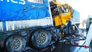 Best truck crashes, truck accident compilation 2015 Part 13