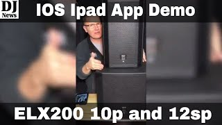 #electrovoice ELX200 10P and 12SP Demonstration Of EV App and Sound Settings | Disc Jockey News