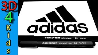 easy logo drawing Famous ADIDAS very easy !! for kids